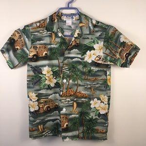 Hawaiian shirt by Ky's size medium boys green
